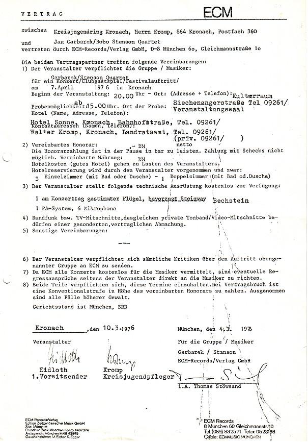 ECM Vertrag